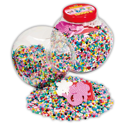 15,000 Beads & 3 Pegboards in a Pink Tub