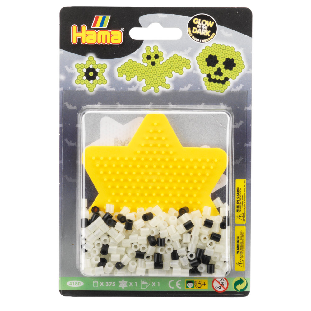 Hama Beads - Glow in the Dark Small Blister - Arts & Crafts