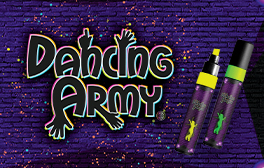 Dancing Army - Decorating skin and hair and wearing neon and fluorescent accessories
